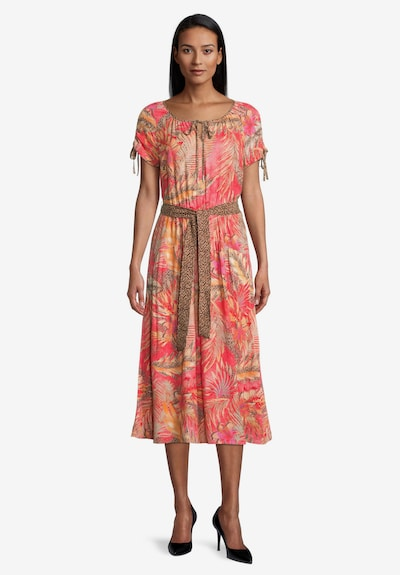 Betty Barclay Sommerkleid mit Gürtel in rot, Modelansicht