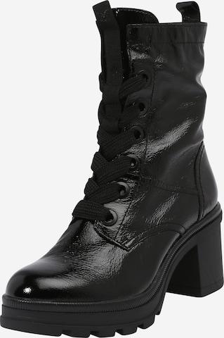 CAPRICE Къси ботуши с връзки в черно