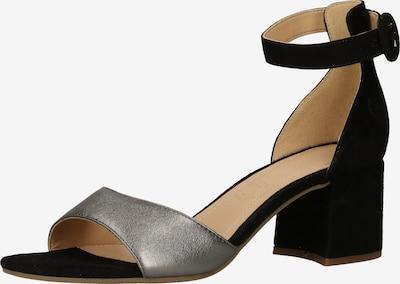 Sandale bugatti pe negru / argintiu, Vizualizare produs