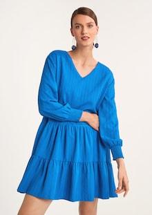 COMMA jurk in blauw