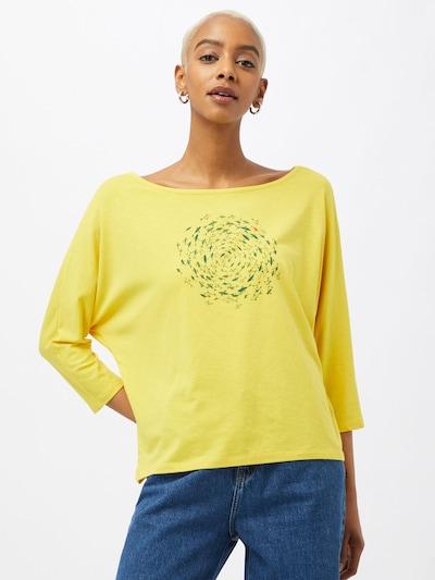 GREENBOMB Shirt in gelb / khaki / dunkelgrün: Frontalansicht