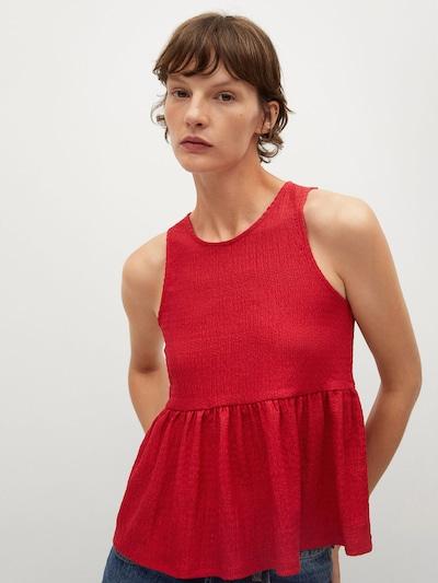 MANGO Bluse 'DALIA' in rot, Modelansicht