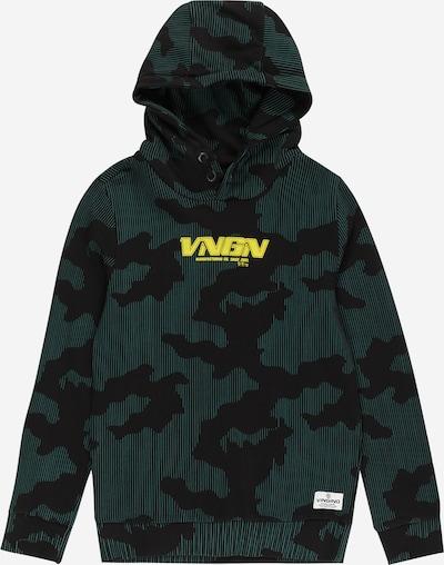 VINGINO Sweater majica 'Now' u limeta zelena / žad / crna, Pregled proizvoda