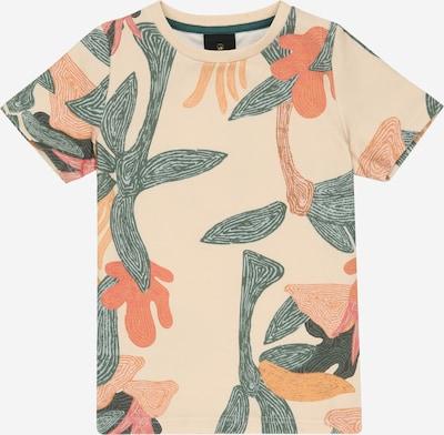 The New T-Shirt 'TANNER' en safran / vert / orange / orange pastel, Vue avec produit