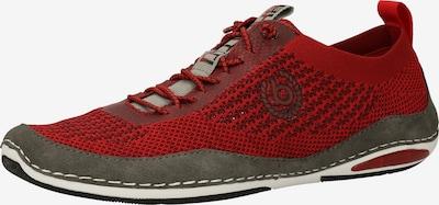 bugatti Chaussure de sport à lacets en marron / rouge foncé, Vue avec produit