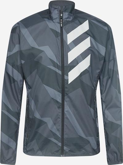 Giacca sportiva ADIDAS PERFORMANCE di colore grigio / bianco, Visualizzazione prodotti