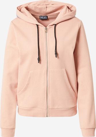 DIESEL Zip-Up Hoodie in Pink