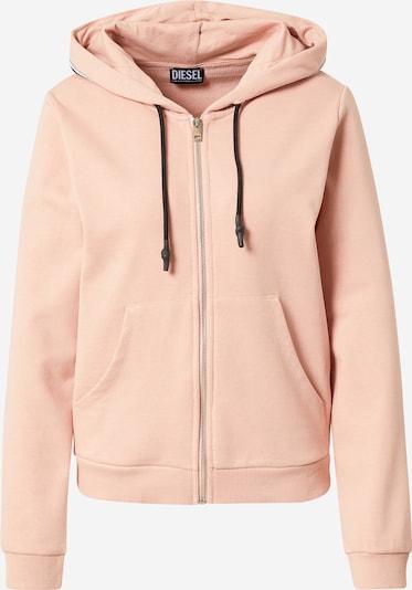 DIESEL Sweatjacke in rosa / schwarz, Produktansicht