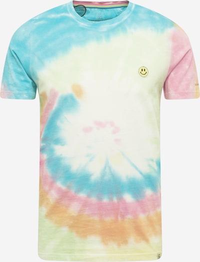 COLOURS & SONS T-Shirt 'GLEN' in blau / hellgelb / orange / rosa, Produktansicht