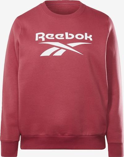 Reebok Sport Sweatshirt in pink / weiß, Produktansicht