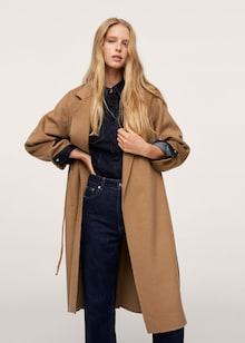 MANGO kabát 'batin' v hnedej farbe