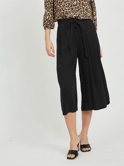 VILA Kalhoty se sklady v pase 'Vero' - černá, Model/ka