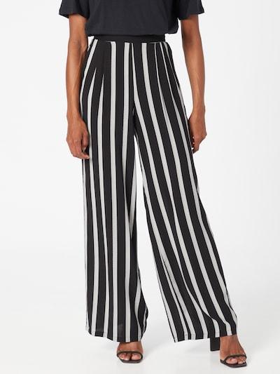 DeFacto Pantalón plisado en negro / blanco, Vista del modelo