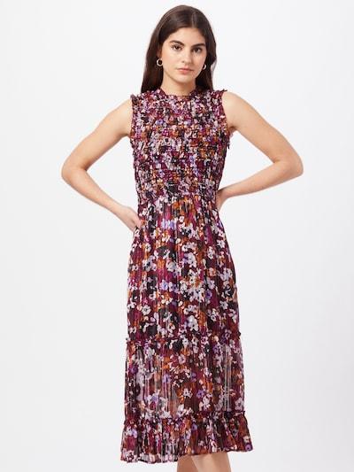 Dorothy Perkins Kleid in beige / flieder / dunkelorange / rubinrot / schwarz, Modelansicht