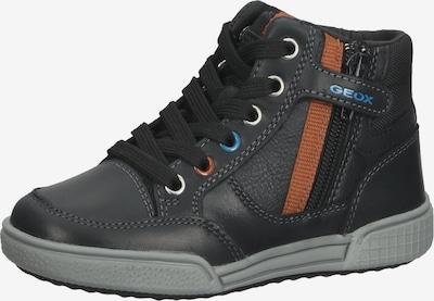 GEOX Sneaker in grau / orange / schwarz, Produktansicht