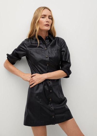 Rochie tip bluză 'Nastia' MANGO pe negru, Vizualizare model