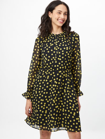COMMA Šaty - žlutá / černá, Model/ka