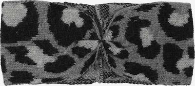 Zwillingsherz Stirnband in grau / schwarz, Produktansicht