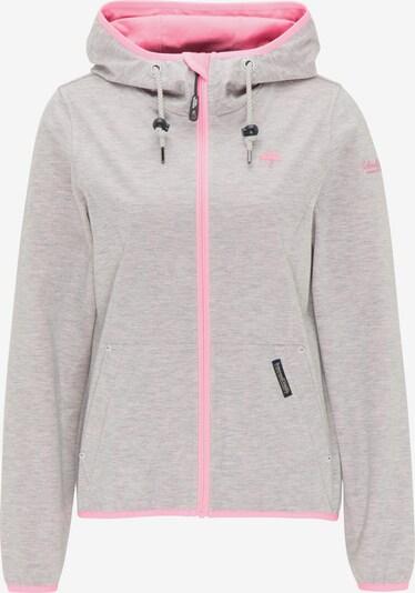 Schmuddelwedda Funktionsjacke in graumeliert / pink, Produktansicht
