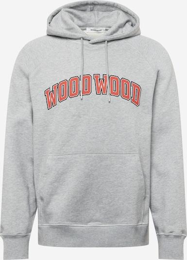 WOOD WOOD Sweatshirt 'Fred IVY' i grå-meleret / lys rød / sort / hvid, Produktvisning