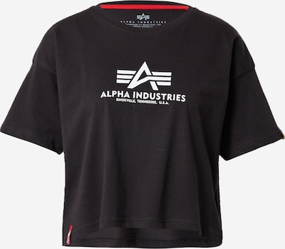 ALPHA INDUSTRIES T-Shirt in schwarz / weiß, Produktansicht