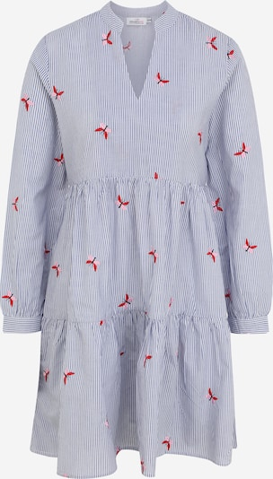 Zwillingsherz Kleid 'Elena' in rauchblau / rot / weiß, Produktansicht