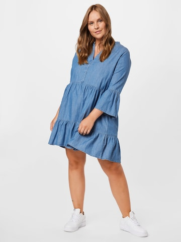 ONLY Carmakoma Shirt Dress 'KIKKA MARAKESH' in Blue