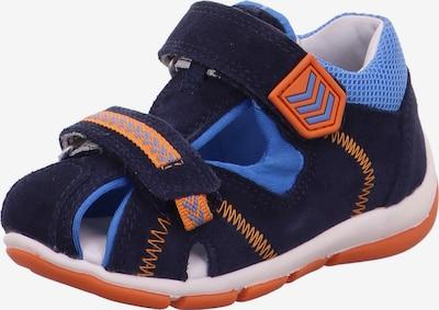 SUPERFIT Avonaiset kengät 'FREDDY' värissä laivastonsininen / kuninkaallisen sininen / oranssi, Tuotenäkymä