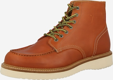 SELECTED HOMME Lace-up boot in Brown