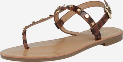ONLY Séparateur d'orteils 'MELLY' en marron / or, Vue avec produit
