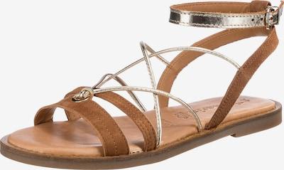 TAMARIS Sandale in cognac / silber, Produktansicht