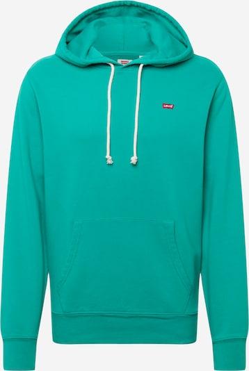 Bluză de molton LEVI'S pe verde jad / roșu / alb, Vizualizare produs