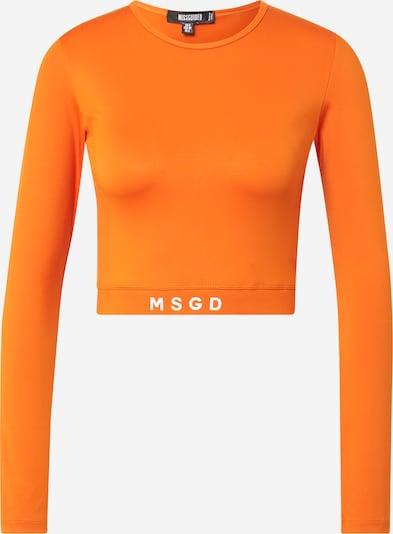 Missguided Shirt in dunkelorange / weiß, Produktansicht