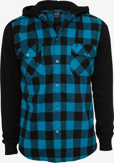 Urban Classics Overhemd in de kleur Hemelsblauw / Zwart, Productweergave