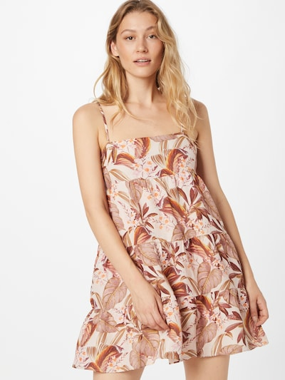 Forever New Kleid 'Thea' in braun / weißmeliert, Modelansicht