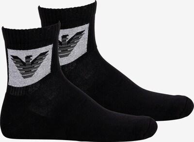 Emporio Armani Chaussettes en noir / blanc, Vue avec produit