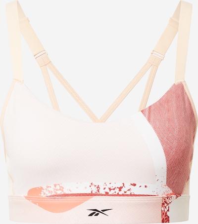 REEBOK Sportbehå 'SR Q2 Lux' i persika / hummer / vit, Produktvy
