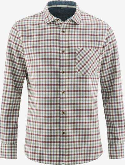 HempAge Hemd ' lumberjack shirt ' in blau / grün / hellrot, Produktansicht
