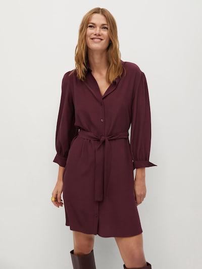 MANGO Kleid 'Leandra' in weinrot, Modelansicht