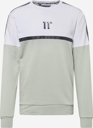 11 Degrees Sweatshirt in silbergrau / schwarz / weiß, Produktansicht