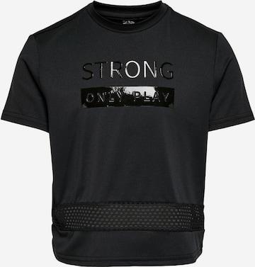T-Shirt fonctionnel ONLY PLAY en noir