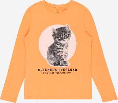 NAME IT T-Shirt 'DIRGA' en gris / gris clair / orange / rose clair / noir, Vue avec produit