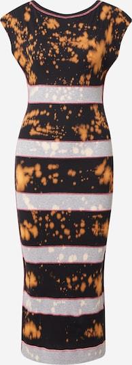 DIESEL Jurk in de kleur Cognac / Lichtgrijs / Pink / Zwart, Productweergave