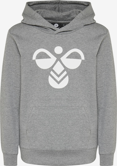 Hummel Sweatshirt in graumeliert / weiß: Frontalansicht