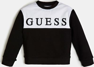 GUESS KIDS Sweatshirt in schwarz / weiß, Produktansicht