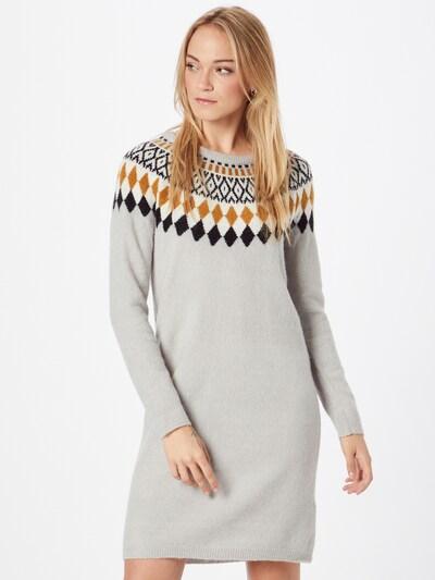 Fransa Gebreide jurk in de kleur Bruin / Grijs / Zwart / Wit, Modelweergave