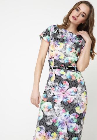 Madam-T Sheath Dress 'CALYPSO' in Mixed colors