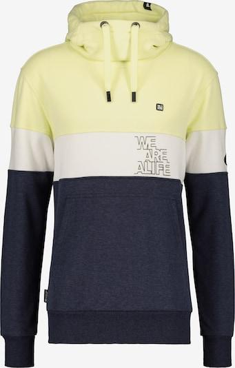 Alife and Kickin Sweatshirt in blaumeliert / gelb / weiß, Produktansicht