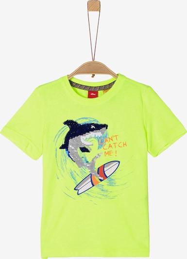 s.Oliver T-Shirt in neongrün / mischfarben, Produktansicht