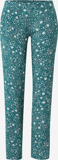 ETAM Pantalon de pyjama 'MILLIE' en pétrole / blanc, Vue avec produit